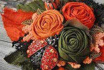 Казанши,цветы из ткани...