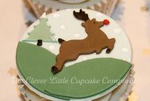 χριστουγεννιατικα cupcake