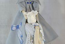 Lalki dekoracyjne / Ozdobne elementy (Lalki) ręcznie wykonane przez falbana.pl , stosowane w wystroju wnętrz.