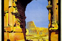 Travel Poster Rome / Here are a collection of vintage posters about Rome -- seems like as soon as there were trains and planes, people wanted to come visit the Eternal City!