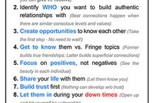 Relationships / Info, tools, ideas to buid and foster relationships