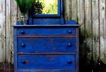 Blue chalk paint ideas