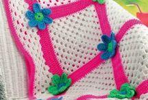 Mantas o Colchas a crochet
