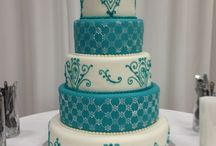 The wedding cake hunt. / Wonderful images of all kinds and colors of wedding cakes.