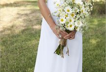 Fiona Robertson / August 2014 - Meadowy, just picked lots of daisies, relaxed informal. Colours whites yellows greens.