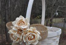 Flowergirl Basket - Rustic