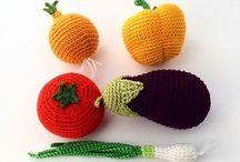 овощи и фрукты крючком