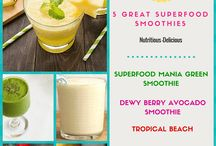Healthy Superfood Smoothie Recipes / Great recipe ideas for making superfood smoothies