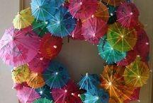 umbrella wreath