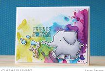 Cards: mama elephant