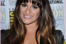Lea Michele / Lea Michele of on a TV show called Glee as Rachel Berry