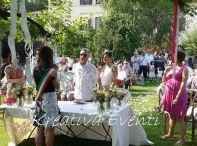 matrimonio country chic / matrimonio rustici, cerimonia civile all'aperto