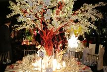 wedding tables, cakes, bouq.