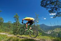 Biking the Adirondacks / Biking in the Adirondacks is an experience like no other! Whether you own a state-of-the-art 20-speed titanium frame mountain bike or still prefer the old-fashioned single speed with back-pedal brakes, the experience can't be beat!