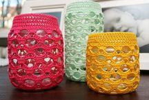 cubre frascos crochet