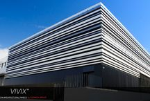 Vivix & Engineered Assemblies / Amazing Design Opportunities...they are endless! VIvix is a solid Phenolic Facade.