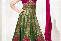 Latest Anarkali Salwar Suits / Get dressed in season's hottest & vibrant collection of stylish party wear anarkali dresses that will enhance your look. Go & pick your favorite anarkali suit now from http://www.mishreesaree.com/Online/Salwar-Kameez/Anarkali-Dresses