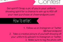 Current Cheer and Pom Contests / Contests through Cheer and Pom. See what we're giving away this month!