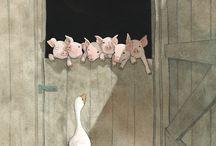 animales / ilustraciones de animales con diferentes técncias