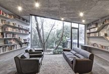 Bookcases-libraries / Interior design