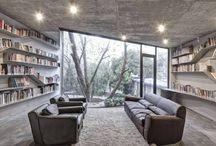 Bookcases-libraries / Interior design