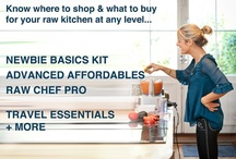 Raw Food Equipment / Know where to shop and what to buy for your raw kitchen at any level.