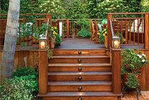 Porch/Deck / New porch/deck with privacy and storage underneath. / by Bridget Carvelli Harbert