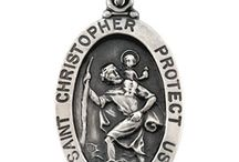 St Christopher Medals / Saint Christopher is the patron saint of mariners, travelers and ferrymen. Shop our amazing selection of Saint Christopher jewelry and St. Christopher medals. Saint Christopher pendants are available in sterling silver, 14k yellow and white gold. / by Joy Jewelers