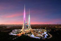 Il futuro e il presente in costruzione / Grattacieli
