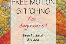 Free motion quilting. / Quilting