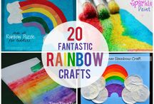 Rainbows / Rainbow themed arts and crafts / by Multicraftingmummy