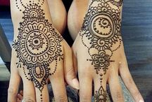 Mehendi and flash tattoes