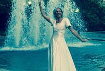 """Wedding Dress Run - Performance Art Project by Darinka Blagaj / Enjoy the unfolding story! as the wedding dress represents the Lighthouse - a beacon of joy, purity, release into a new beginning - redefine the fun and potential of this cultural """"monument"""" into the everyday and lets take back each moment of each day and be the joy, the fun, the beauty of expression. Allowing new feelings, reactions, misconceptions, assumptions of what the dress means.  Photos by George Whiteside, Alex Leikemoser, Darinka Blagaj on FB www.thesmileoffice.com  with LOVE!!"""