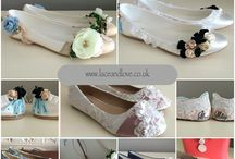 Custom shoes, bespoke flat shoes. / Our custom flat pumps mean you can design your own shoes and include any themes or ideas you may have. Each pair of shoes is unique and can be personalised too.  Perfect for your wedding shoes, party shoes or any occasion!