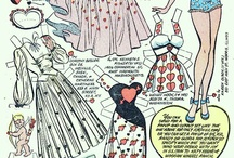 Paper doll / Paper dolls are a great inspiration for doll clothes patterns