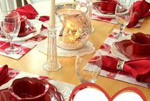 Valentine's Day Tablescape / by Wanda Miller