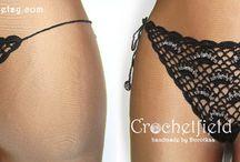 Crochet lace lingerie