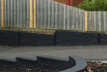 Concrete Sleepers, Retaining Walls, Sleepers, Landscaping, Garden Design / Concrete Sleepers - Retaining Walls & Products, Sleeper  Feature Wall, Landscaping, Garden Design