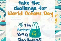World Oceans Day / Healthy oceans, healthy planet. Ideas for plastic recycling for kids.