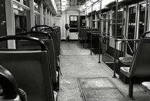 Empty tram / Empty tram in Moscow