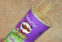 Pringles Projects / This is very interesting to try some of these ideas since I have Pringle cans!! / by Amy Kitts