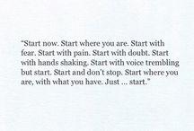 Inspirations, citations✍