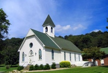 Reflection: Pretty country churches / Mostly in Virginia area. Some city churches with colonial style. / by Andrea Jackson