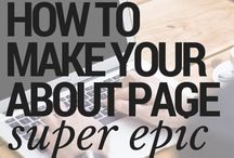 Blogging: About Page, Welcome Page