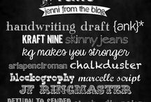 Scrapbooking FONTS / by Tina Hudgens (MOMS CRAZY COOKING)