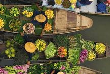 ⟥★ Marché flottant / Floating market ⟥★ / by Easyvoyage