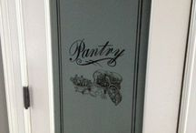Pantry doors / Etched on glass