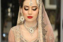 Bride looks