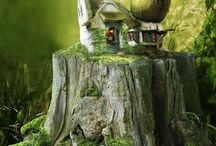❤️ Where the Little Folks live ............ ❤️ / Homes of Faeries & other Critters, Dioramas and Model Railroads Also visit:https://www.pinterest.com/HBlackthorne/where-the-little-folks-lives/