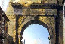 рим, каприччо, античность